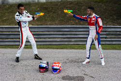 Alexander Albon, ART Grand Prix and Antonio Fuoco, Trident