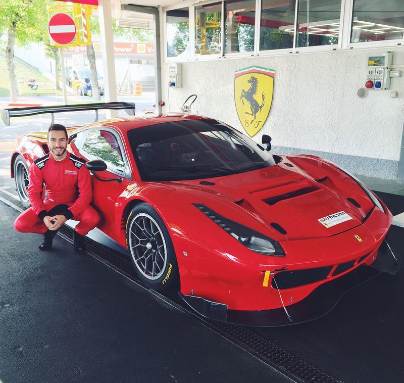 Alex Riberas con el Ferrari 488 en Fiorano