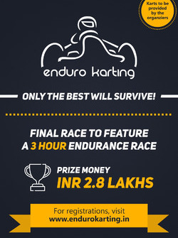 Launch poster for Enduro Karting