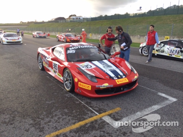 John Farano's Ferrari on the starting grid