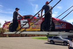 Loading the #5 JSR K&N West Stock Car