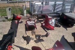 Damage to #60 Michael Shank Racing