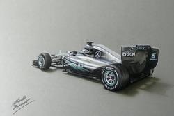 Lanzamiento del Mercedes AMG F1 W07