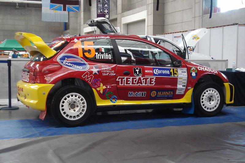 """Рикардо Тривиньо и """"Чеко Салом"""", Peugeot 206 WRC, Ралли Мексика 2008 года"""