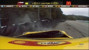 Kurt Busch Into Barrier - Watkins Glen International 2011