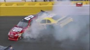 Cassill's Tire Explosion Causes Wreck