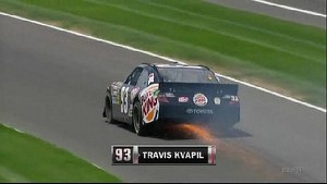 Travis Kvapil Heads to the Garage - Indianapolis - 07/29/2012