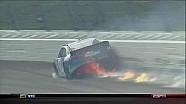 Aric Almirola Catches Fire - Kansas - 10/21/2012
