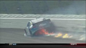Aric Almirola Catches Fire - Kansas - 10/21/2012