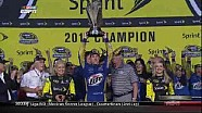 Keselowski Presented Sprint Cup Trophy - Homestead - 11/18/2012