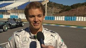 2013 Mercedes AMG Petronas W04 Car Launch - Nico Rosberg