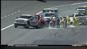 Richardson Jr. Wrecks During Qualifying