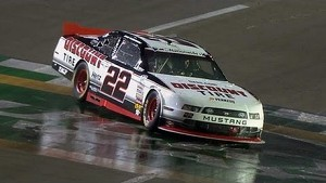 Brad Keselowski Does Donuts in the Rain!