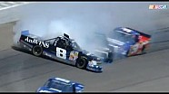 NASCAR Max Gresham wrecks and collects Wallace and Sauter | Michigan International Speedway (2013)