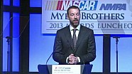 NASCAR | Chad Knaus accepts Crew Chief of the Year award (2013)