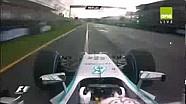 F1 2014 Australian GP Melbourne pole lap Lewis Hamilton
