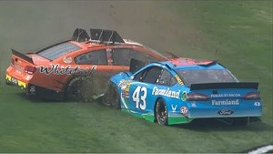 Almirola fired up after wreck with Scott