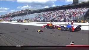 HUGE Start Crash With Pole-Sitter Saavedra - Indy GP 2014