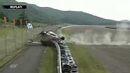 Airborne crash at the Super GT Autopolis race