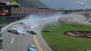 Massive crash early in Cup race at Daytona
