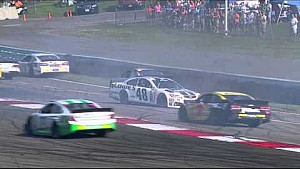 Johnson spins out after restart