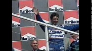 Villeneuve passes Hill for 1997 Hungary Win