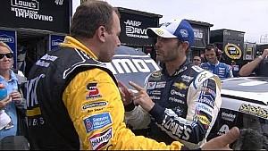 Newman & Johnson exchange words - 2014 Michigan