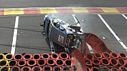 Touring car crashes & flips at Eau Rouge