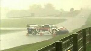 20 GT cars crash in the rain
