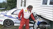 Rally car crashes into a house! 2012 Targa Newfoundland