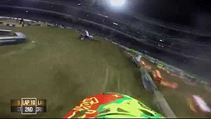 Onboard with Shane McElrath at the 2015 Monster Energy Supercross Lites main event from San Diego