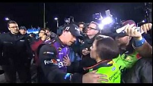 Denny Hamlin and Danica Patrick post race argument