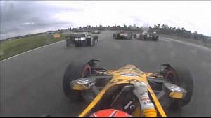 Серьезная авария Симона Пажено, Себастьена Бурдэ и Райана Хантера-Рея в гонке IndyCar