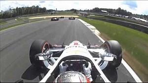 James Jakes y Stefano Coletti incidente en el Gran Premio de Alabama Honda Indy