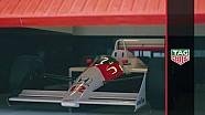 Fernando Alonso maneja el McLaren de Ayrton Senna