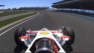 Accidente de Helio Castroneves durante las prácticas en las 500 millas de Indy