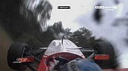 Superleague Formula 2010 at Brands-Hatch, Chris van der Drift crashes into a bridge (Replays)