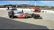 Exclusive footage of the MP4-28
