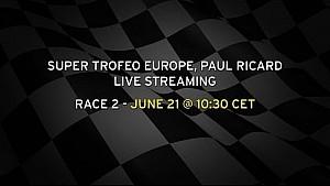 Lamborghini Super Trofeo Europa Paul Ricard Transmisión en vivo la carrera 2