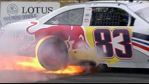 Toyota Camry NASCAR smokeout turns into burnout