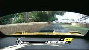 Onboard at 130mph up Goodwood Hill Climb. Brace yourself