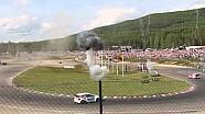 Обгон Маттиаса Экстрёма Тимми Хансеном. 6 этап чемпионата мира по ралли-кроссу. Швеция.
