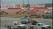Big rig racing at Race City Speedway in Calgary