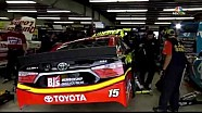 Gordon, Bowyer collide in the garage