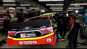 Gordon, Bowyer collide in the garage