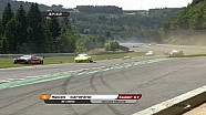2 Ferrari crash hard, GT Open 2010 at Spa-Francorchamps