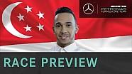 تقديم لويس هاميلتون لسباق جائزة سغافورة الكبرى