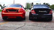 Mercedes C63 AMG vs CL500 Sound Battle V8 Revs 6.2L W204 vs C216 AC Performance Acceleration
