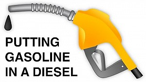 Putting Gasoline In A Diesel Car - What Happens?