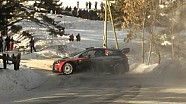 Hayden Paddon spins at SS10 WRC Rally Monte Carlo